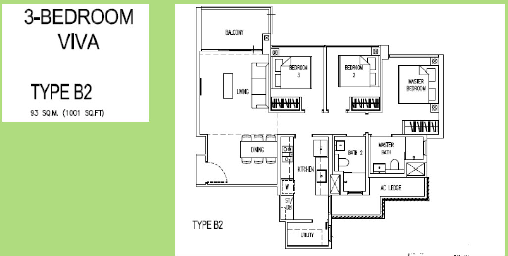 3 Bedroom Viva Parc Life EC