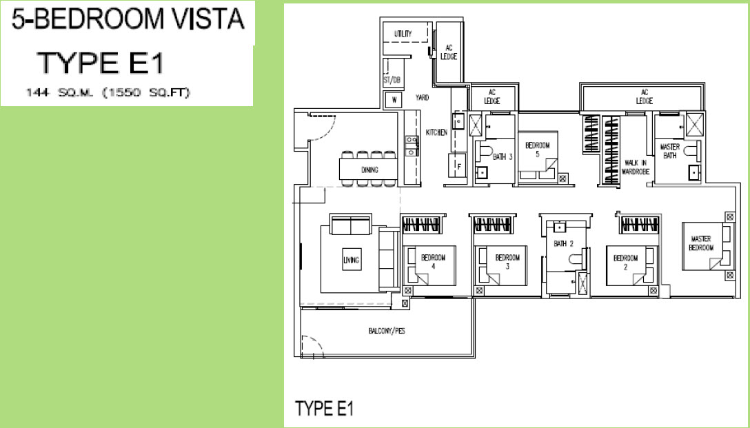 5 Bedroom Largest unit Parc Life